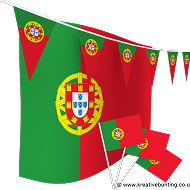 Portugal Bunting and Flags Bundle